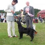 Rakel får ta emot sin BIS-rosett - 26 augusti 2007