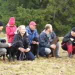 Barbro med Mette, Malena med Wilma, Ville med Isa, Johan med Märta och Jessica med Torhild