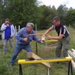 Jonas och Lasse var snabbast i såg-stafetten